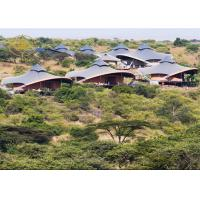 Prefab Outdoor Luxury Resort Tents Large Span High Dielectric Strength
