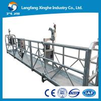 Buy cheap zlp800 Construction maintenance gondola , aerial suspended access platform , skylift rope cradle with counter weight from wholesalers