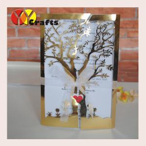China Ecofriendly handmade wedding decoration laser cut tree shape indian wedding cards invitation type on sale