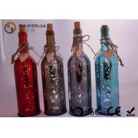 Best Electroplate Finish Wine Bottle Led Lights With Paint Color / Words wholesale