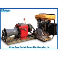 China 230kg 30KN Pull Force 1 or 2 Gear Stringing Equipment diesel power winch on sale