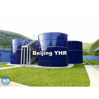 China Blue Glass Lined Water Storage Tanks , Glass Coated Steel Tanks Easy Installation on sale