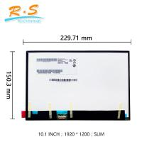 Buy cheap 10.1 inch Touchscreen LCD Monitor B101UAN01.7 1920x1200 IPS LCD Module for from wholesalers