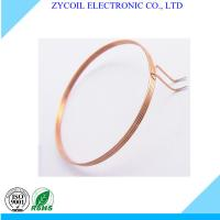 Cheap Thin Round Copper Air Core Coil 0.8mm Dia For Card / Radio Frequency Tag for sale