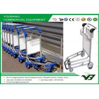 Cheap Sliver Airport Luggage Trolley / airline baggage carts with wheels OEM , ODM wholesale