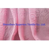 Best 75D Polyester Pearl GGT Pink Chiffon Fabric With Embossed Flowers wholesale