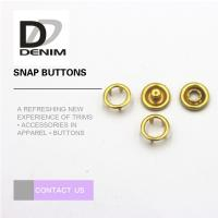 China Fancy Gold Brass Bulk Clothing Buttons , 16L Prong Snap Buttons For Clothing on sale