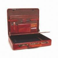 Best Leather Laptop Attache Case with Removable Writing Pad, Fits for 19 Inches Laptop wholesale