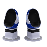 Best 10 Square Meters Single Seat 9D VR Egg Chair with DPVR E3 2K Glasses wholesale