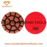 Best 3'' Dry Hybrid Copper Bond Polishing Pads 10mm Thickness for Concrete wholesale