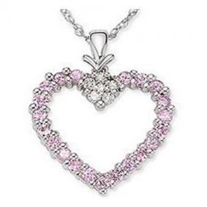 Best Pink Sapphire & Diamond Pendant wholesale