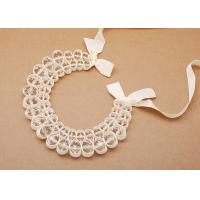Best crystal beads with beige ribbon Jewelry Handcrafted Necklaces (NL-489) wholesale