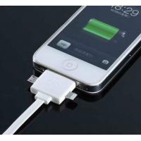 Cheap IPhone 5S / 4 Data Multifunction High Speed 3 In 1 Usb Charging Cable White for sale