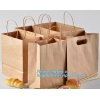 Best Food Grade Bread Packaging Disposable Kraft Paper Bag,handle Stand up pouch kraft bags zip paper packaging bags for food wholesale