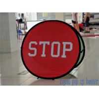 Cheap Small Round Trade Show Banners Stand For Indoor Display 100*100cm for sale