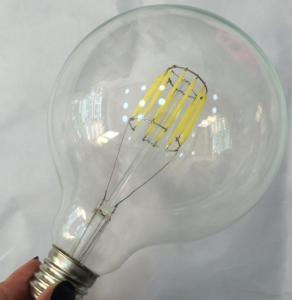 Best G125 LED Filament Edison Glass Bulbs light Dimmable E14/E26/E27/B22,4W/6W/8W,110v/220v wholesale