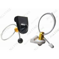 Best Stainless Steel Cable Lanyard Bottle Security Tags / AM 58Khz Wine Anti Theft Hard Tag wholesale