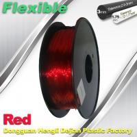 Best Professional Eco Friendly Flexible( TPU )  Red 3D Printer Filament 1.75mm wholesale