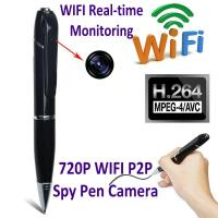 Best 720P HD WIFI P2P Pen Spy Hidden Camera Covert Video Streaming Recorder Home Security Nanny Camera Remote Baby Monitor wholesale