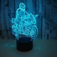Best Motorcycles USB 3D LED Table Lamp Remote Touch Night Light 7 Colors Changing Sleeping Lampe Light Motor Lamps For Gifts wholesale