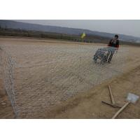 Best Durable Gulafan Coated Gabion Wire Mesh , Rock Cages For Retaining Walls wholesale