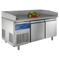 Cheap Stainless Steel 225L Pizza Counters With Marble Panel , 1355x700x850 wholesale