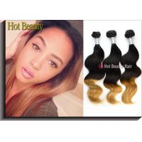 Best Ombre Colored Human Hair Bundles Body Wave Two Tone Color No Synthetic Hair Mixed wholesale