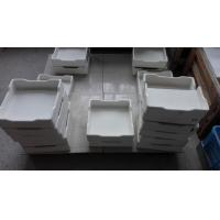 Best Rectangular Alumina Ceramic Crucible , Customized Metal Melting Crucible wholesale