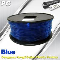 Best Blue 3mm Polycarbonate Filament Strength With Toughness1kg / roll PC Flament wholesale