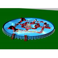 Best Outdoor Portable Round Steel Frame Pool PVC Tarpaulin And Metal Frame wholesale