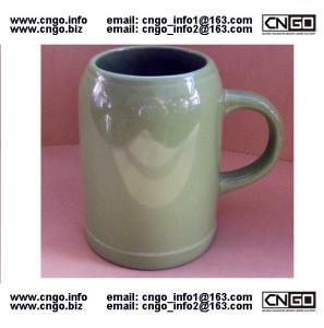 China wholesale green beer mug ceramic beer mug custom colors LOGO 500ML beer mug on sale