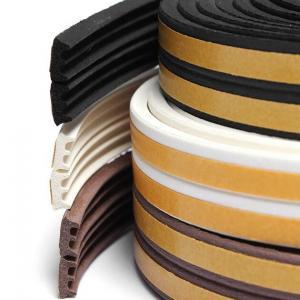 Cheap Flexible medium density sponge silicone rubber flat seal strip for sale