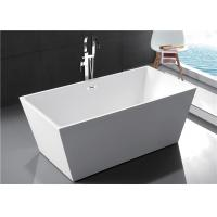Cheap Fiberglass Freestanding Rectangular Tub , Modern Stand Alone Tub In Small Bathroom for sale