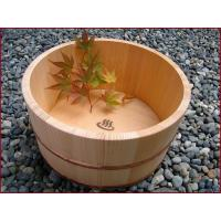 Quality Steam Deep Wooden Footbath Barrel with Cover wholesale