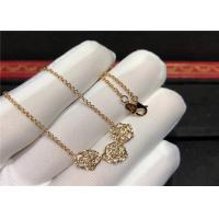 Best Rose Design 18K Gold Diamond Necklace For Wedding Anniversary Party wholesale