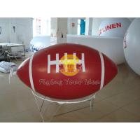 Best Red Inflatable Advertising Sport Rugby Ball Balloons with total digital printing for Party wholesale