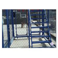 Best Simple Quick Installation Safety Construction Cage , Step Ladder Cage For Subway Tunnel wholesale