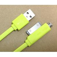 Best Colorful 30 Pin 2 In 1 HTC Micro USB Cable For Samsung / Blackberry Charging wholesale