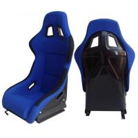 Best Fabric + Blk Fiber Glass Bucket Racing Seats With Belt Harness Holes wholesale