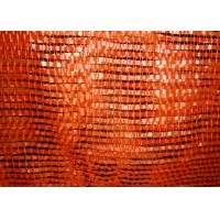 Plastic , PE , PP Woven Industrial Mesh Bags 50kg For Onions And Eggplant Orange Color