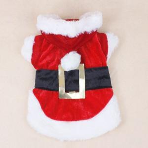 China Dacron + Cotton Christmas Dog Clothes Pet Apparel Santa Dress For Shih Tzu on sale
