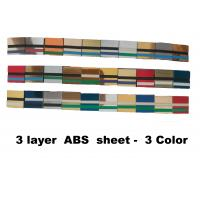 Best 60x120cm 3 - Ply Abs Plastic Sheet  Engravable For Indoor Non-Illuminated Signs wholesale