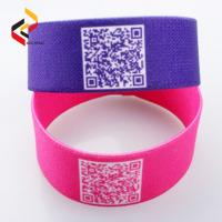 China Factory directly sale custom new style polyester elastic fabric woven RFID wristband on sale