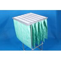 Best Green F6 Paint Pocket Filters , 6 Bags Air Filter Material 65% Efficiency wholesale