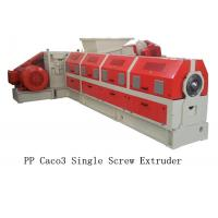 Buy cheap PP Caco3 Single Screw Extruder Making Machine Water Ring Pelletizing System from wholesalers