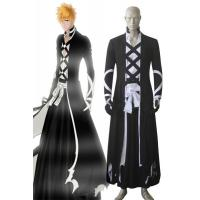 China Anime Costumes Wholesale Bleach Ichigo Kurosaki New Bankai Kimono Look Anime Cosplay Costumes on sale