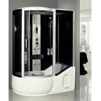 Cheap Large Steam Shower Tub Combo Jacuzzi Shower Stalls With 6 Directional Hydrotherapy Jets for sale