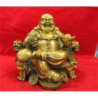 China Laughing buddha on throne chair on sale