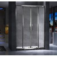 China Four Doors Custom Glass Shower Doors And Frame Translucent PVC Strips Waterproof on sale