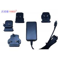 Best 18W 12V Interchangeable Power Supply For Network Switch 1.5m Cable Length wholesale
